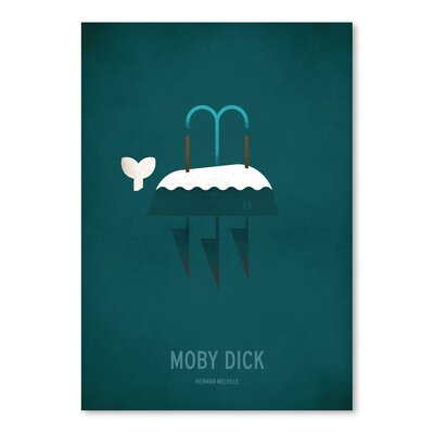 Americanflat Moby Dick Minimal Graphic Art on Wrapped Canvas