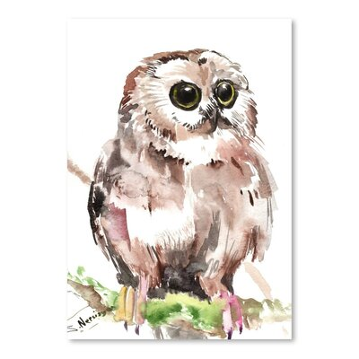 Americanflat 'Owl 6' by Suren Nersisyan Art Print Wrapped on Canvas