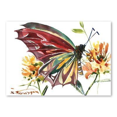 Americanflat 'Butterfly' by Suren Nersisyan Art Print Wrapped on Canvas