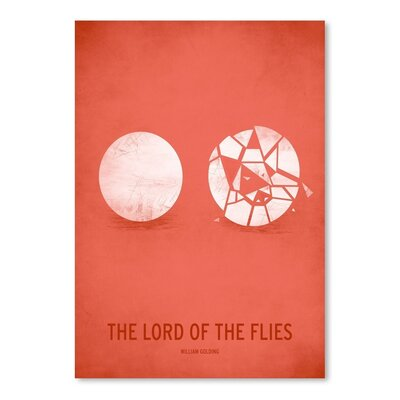 Americanflat Lord of the Flies_Minimal Graphic Art Wrapped on Canvas