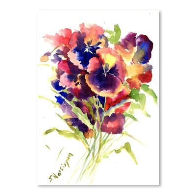 Americanflat 'Pansies' by Suren Nersisyan Painting Print on Wrapped Canvas