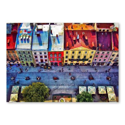 Americanflat 'Buildings Multi' by Lina Kremsdorf Photographic Print Wrapped on Canvas