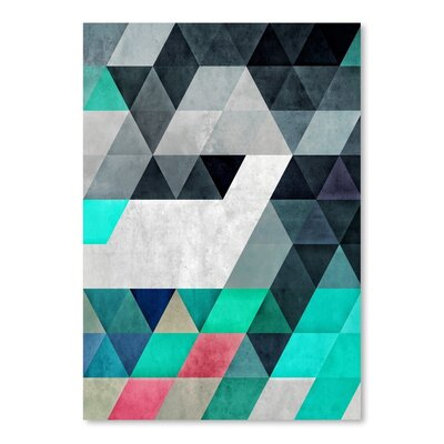 Americanflat Flyx Graphic Art Wrapped on Canvas