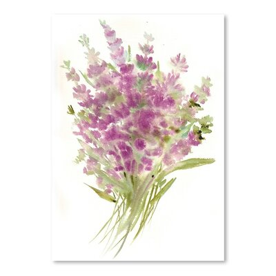 Americanflat Lavenders 2 Painting Print on Wrapped Canvas
