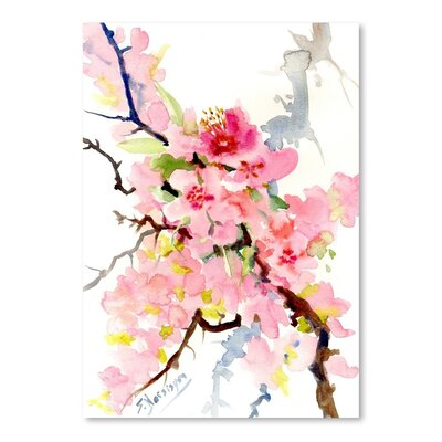 Americanflat 'Cherry Blossom 3' by Suren Nersisyan Painting Print on Wrapped Canvas