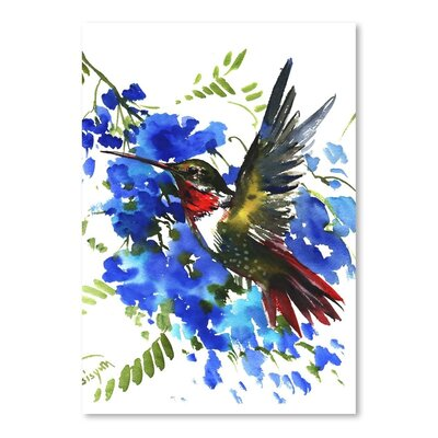 Americanflat 'Hummingbird 7' by Suren Nersisyan Art Print Wrapped on Canvas