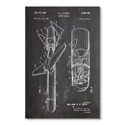 Americanflat 'Guided Missile' by House of Borders Graphic Art on Wrapped Canvas