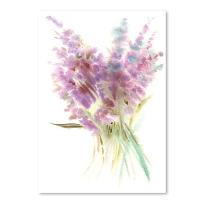 Americanflat Lavender Painting Print on Wrapped Canvas