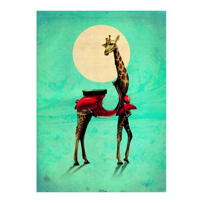 Americanflat 'Giraffe 2' by Ali Gulec Graphic Art on Wrapped Canvas
