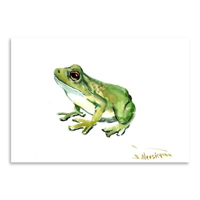 Americanflat 'Common Frog' by Suren Nersisyan Painting Print on Wrapped Canvas