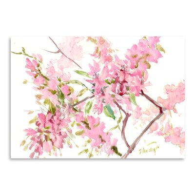 Americanflat 'Cherry Blossom' by Suren Nersisyan Art Print Wrapped on Canvas