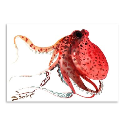 Americanflat 'Octopus Deep' by Suren Nersisyan Painting Print on Wrapped Canvas