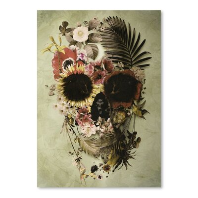 Americanflat Garden Skull Light by Ali Gulec Graphic Art Wrapped on Canvas