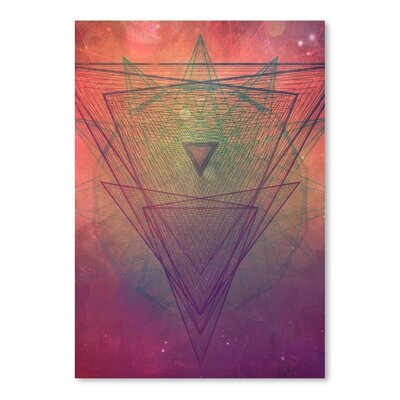 Americanflat Pyrymyd Xrayyll Graphic Art Wrapped on Canvas