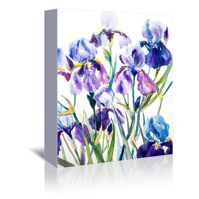 Americanflat Iris Wall Painting Print on Wrapped Canvas