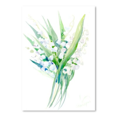 Americanflat 'Lilies of the Valley 2' by Suren Nersisyan Painting Print on Wrapped Canvas