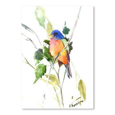 Americanflat 'Painted Bunting' by Suren Nersisyan Painting Print on Wrapped Canvas