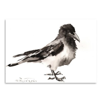 Americanflat 'Hodded Crow' by Suren Nersisyan Art Print Wrapped on Canvas