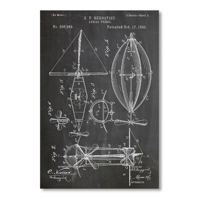 Americanflat 'Aerial Vessel 2' by House of Borders Graphic Art on Wrapped Canvas
