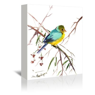 Americanflat 'Green Finch' by Suren Nersisyan Art Print Wrapped on Canvas