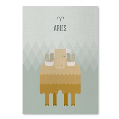 Americanflat Aries by Christian Jackson Graphic Art on Wrapped Canvas