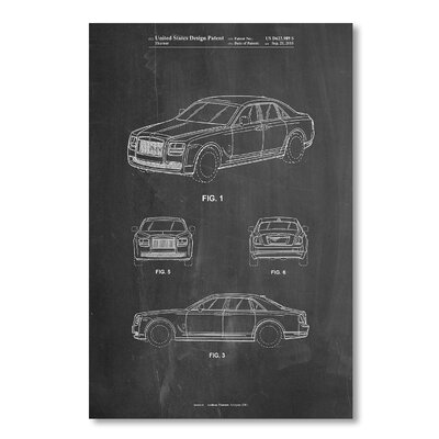 Americanflat 'Bentley Phantom' by House of Borders Graphic Art on Wrapped Canvas