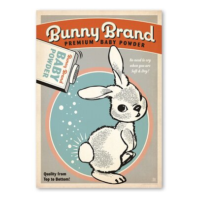 Americanflat Bunny Brand Baby Powder 1 by Anderson Design Children Vintage Advertisement on Wrapped Canvas