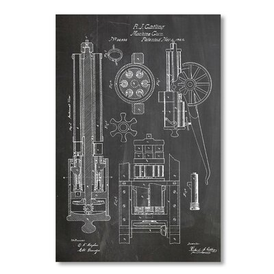 Americanflat 'Machine Gun' by House of Borders Graphic Art on Wrapped Canvas