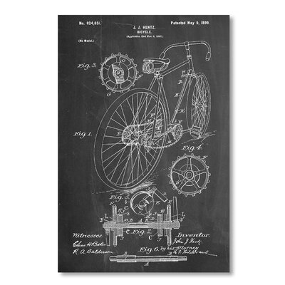 Americanflat 'Bicycle Hentz 1899' by House of Borders Graphic Art on Wrapped Canvas
