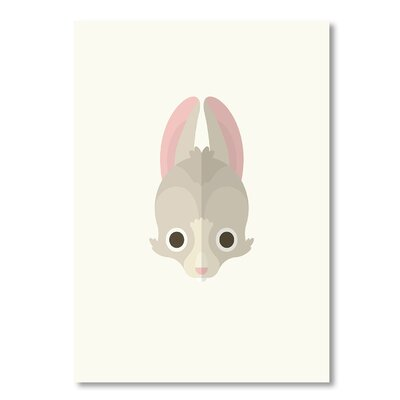 Americanflat 'Rabbit' by Christian Jackson Graphic Art on Wrapped Canvas