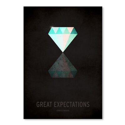 Americanflat Great Expectations Graphic Art Wrapped on Canvas