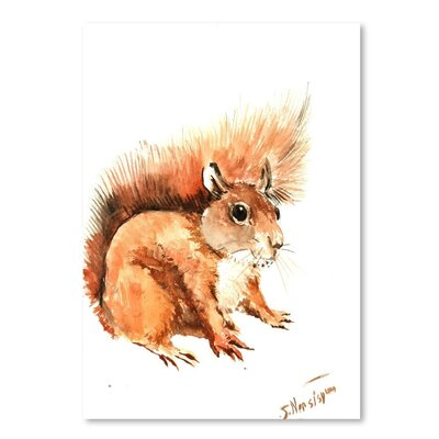Americanflat 'Squirrel' by Suren Nersisyan Painting Print on Wrapped Canvas