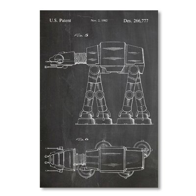 Americanflat 'At-At Walker' by House of Borders Graphic Art on Wrapped Canvas