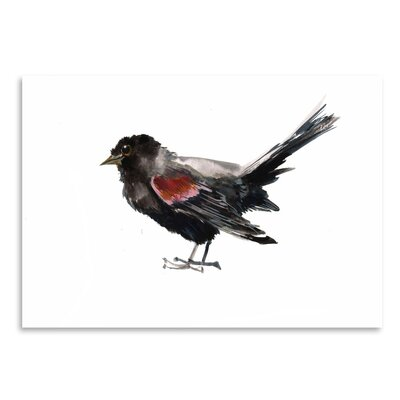 Americanflat Winged Blackbird Painting Print on Wrapped Canvas