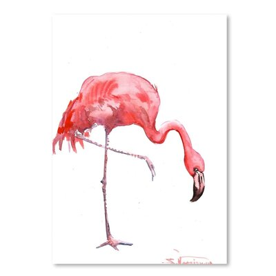 Americanflat Flamingo' by Suren Nersisyan Original painting Wrapped on Canvas