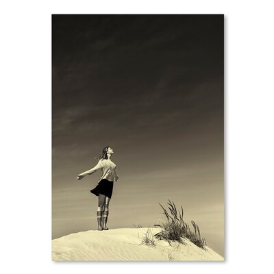 Americanflat Girl on Sand Photographic Print Wrapped on Canvas
