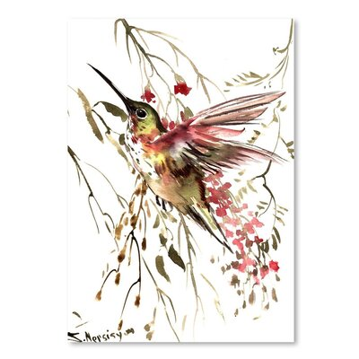 Americanflat 'Hummingbird 12' by Suren Nersisyan Painting Print on Wrapped Canvas
