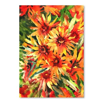 Americanflat 'Blanket Flowers 1' by Suren Nersisyan Painting Print on Wrapped Canvas