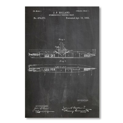 Americanflat 'Submarine' by House of Borders Graphic Art on Wrapped Canvas