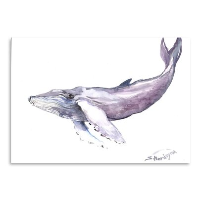 Americanflat 'Humpback Whale 2' by Suren Nersisyan Painting Print on Wrapped Canvas