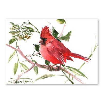 Americanflat 'Cardinal Bird' by Suren Nersisyan Art Print Wrapped on Canvas