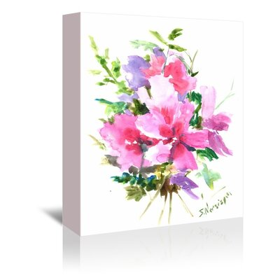 Americanflat Bouquet Graphic Art on Wrapped Canvas