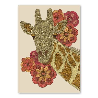 Americanflat Giraffe' by Valentina Ramos Graphic Art Wrapped on Canvas