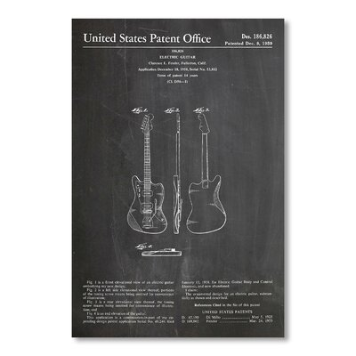 Americanflat 'Fender Jazzmaster' by House of Borders Graphic Art on Wrapped Canvas