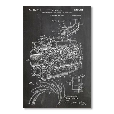 Americanflat 'Jet Engine' by House of Borders Graphic Art Wrapped on Canvas