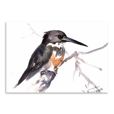 Americanflat 'Belted Kingfisher 2' by Suren Nersisyan Painting Print on Wrapped Canvas