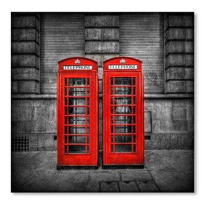 Americanflat 'Telephone Booth' by Lina Kremsdorf Photographic Print Wrapped on Canvas