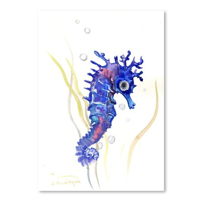 Americanflat Seahorse' by Suren Nersisyan Graphic Art Wrapped on Canvas