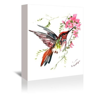 Americanflat 'Hummingbird' by Suren Nersisyan Painting Print on Wrapped Canvas