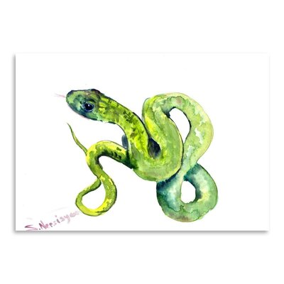 Americanflat 'Florida Rough Snake 2' by Suren Nersisyan Graphic Art on Wrapped Canvas
